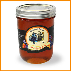 large wildlfower honey jar